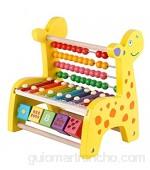 Vobajf Martillando Juguetes de golpeteo Regalos for niños Pounding Madera y Hanmmering a Juego Banco Forma for el bebé niños pequeños (Color : Yellow Size : 22x22.5x15cm)