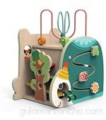 Cubo de Actividad de Madera Clasificador De La Forma De Aprendizaje Temprano del Cubo De La Actividad De Madera |Bead Maze - Educativo Multifuncional para Baby Boy Dddler 18 Meses para Niños Pequeños