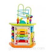 Dfghbn Cubo De Actividad Actividad Cubo Juguetes de Madera para Baby-Multifuncional Forma Clasificador Bead Maze Juguetes educativos para niños Regalo Un Gran Juguete Educativo
