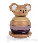 Janod- Tentetieso apilable de madera Koala - Juguete de estímulo para bebés - Desarrolla la motricidad y la manipulación - Colaboración con WWF - Certificado FSC - A partir de 1año (JURATOYS J08601)