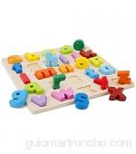 New Classic Toys Puzzle Alphabet-Lowercase multicolore color (10535) color/modelo surtido