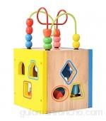 Bead Maze Shape Claser juguete My First Wooder Building Blocks Geometry Aprendizaje Aprendizaje Regalos Juguetes Didácticos para niños pequeños Niños para niños Niños Laberinto de madera Juguete de m