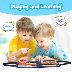 Dreamingbox Plegable Busy Board Juguetes Educativos para Aprender a Habilidades Básicas - Juguetes y Regalos