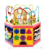 LiChaoWen Bebé Laberinto Actividad Cubo Toys Baby Bead Bead Bead Maze Shape Claser Juguetes para niños de 1 año de Edad niña niño Regalo (Color : Multicolor Size : 41x39cm)
