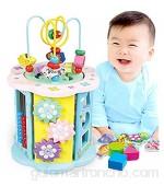 MAATCHH Bead Maze Actividad de Madera Cubo Aprendizaje Juguetes para niños Girls Bead Maze Toy Regalo para niños para Niños Niños (Color : Multi-Colored Size : One Size)