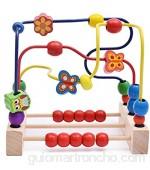MAATCHH Bead Maze Niño Bead Laberinto Roller Roller Animal círculo Juguetes Educativo ábaco Beads Juego para niños niñas bebé Regalo para Niños Niños (Color : Multi-Colored Size : One Size)