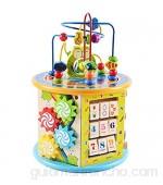 XMSIA Laberinto Multifunción Madera Forma clasificador de Color de Bolas Laberinto Cuenta del Juguete de bebé en Desarrollo temprano de Aprendizaje Actividad de Madera Cube Toy