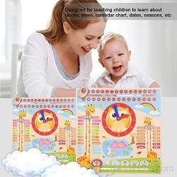 Jeankak Juguete de Aprendizaje Reloj Educativo promoción del Desarrollo Visual Juguete de Aprendizaje para niños Madera de Primera Calidad y Pintura ecológica para bebés