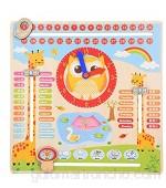 Juguete de Aprendizaje para niños Nuevo Rompecabezas Animado no tóxico Reloj Educativo para la Primera Infancia Juguete para niños Aprendizaje Preescolar