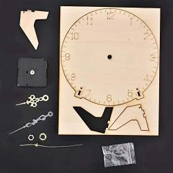 Nunafey Reloj de Madera de Bricolaje Kit de Montaje de Reloj de Madera inofensivo para niños