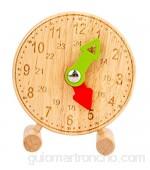Perfeclan Relojes de Aprendizaje de Madera Reloj de clasificación de Forma y Color de pie Modelo Que Dice la Hora para niños - Estilo 1