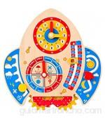 Wenyounge Juguete de exploración con Reloj Calendario Tablero Ocupado de Madera Tablero Montessori para niños pequeños