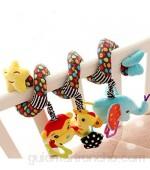 1 pieza colgante espiral juguetes resistente a los arañazos espiral colgante juguete para bebé cochecito cuna cuna cama de bebé