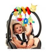 JAWSEU Espiral de Actividad para Juguetes para bebés Multicolor Cama Cochecito Juguete Espiral Actividades Juguetes Colgando el Cochecito bebés Juguete Sonajero recién Nacido Cochecito para niños