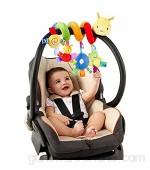 jojofuny Sonajeros para bebé cuna de bebé juguete con timbre timbre para coche juguetes de actividad para niños en espiral juguetes de peluche para cochecito accesorios para bar