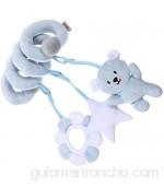 TOYANDONA Adorable Cochecito de Cuna Juguete Colgante en Espiral Cama Infantil Juguete Sonajero de Felpa ( Oso )