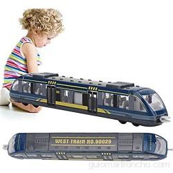 Aufee Juguetes educativos Modelo de Tren Juguete de Coche Resistente al Desgaste para niños pequeños niñas niños niños(Blue)