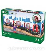 BRIO 33867 Metro con luz y sonido BRIO Trenes-Vagones-Vehículos Edad Recomendada 3+