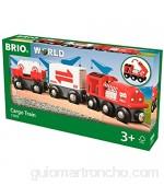 BRIO BRIO-53.033.888 33888-Tren de Mercancías Rojo Multicolor (53.033.888)