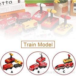 Lacyie Tren de Control Remoto Motor con Batería Tren Eléctrico Magnético Juguetes Coche para Niños Niños Pequeños Regalo de Cumpleaños de Navidad