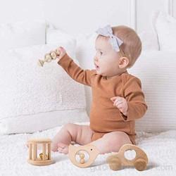 Sonajero de madera personalizado para bebé sonajero juguete Montessori cochecito educativo de recuerdo regalo de recién nacido