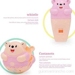Yorimi Sonajero de juguete para bebés pequeños 5 unidades juguete sensorial con sonajero campana silbato castañuelas
