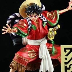 GAOAO Anime Hecho a Mano King of Thieves Kabuki Lu FEI Hand-Run versión roja negraDecorative Ornaments