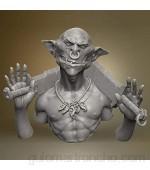HUANLEGOU Estatua Artesanía Adornos 1/12 Modelo De Resina Busto Tema De Ciencia Ficción Kit Sin Montar Y Sin Pintar