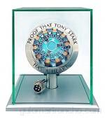 1:1 Iron Man Arc Reactor MK1 Llevó La Marca de Luz del Pecho Tony Heart Lamp Light Modelo Science Toy con Vitrina para Colecciones