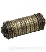 ACELEY Caja Regalo San Valentín Da Vinci Code Combination Lock Accesorios de Regalo románticos adecuados para Novios y Novias Rompecabezas de Bloqueo de Rompecabezas (Bronce Verde)