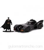 Jada - Coche Batmóvil de la Película Batman de 1989 Escala 1:32 con Figura de Batman Fabricado en Metal de Calidad Fundido a Presión para Niños a Partir de 8 Años