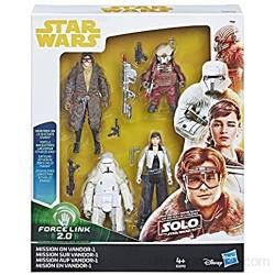 Star Wars Force Link 2.0 – Misión a Vandor-1 – Pack de 4 Figuras de 9 5 cm – Juguete