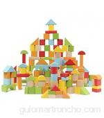 Bloques de construcción de Madera para niños Juguetes para bebés ensamblados con partículas Grandes Cubo de Rompecabezas de educación temprana 100 Pilas de Altura