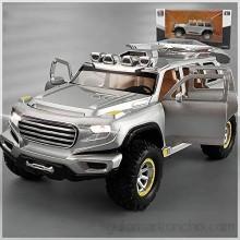 Xolye 01:32 Simulación Nueva Energía fuera de la carretera de vehículos de juguete de aleación Tire hacia atrás del coche modelo los niños del muchacho de luz y sonido de coches de juguete de metal re