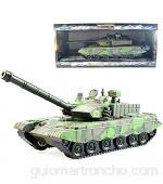 Xolye Aleación del tanque de juguete modelo de orugas de sonido y de luz de juguete tanque grande de metal de coches de juguete de inercia militar adelantada de coches de juguete Regalo del muchacho g