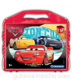 Clementoni- Cars Rompecabezas maletín 12 cubos Multicolor (41185)  color/modelo surtido