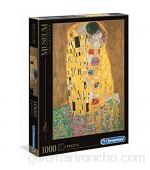 Clementoni- Museum Collection-Klimt: Il Bacio Los Pingüinos De Madagascar Puzzle 1000 Piezas Multicolor 12+ (31442)
