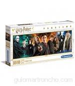 Clementoni- PZL 1000 Panorama Harry Potter Puzzle Adulto Multicolor (61883)