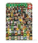 Educa - Cervezas Puzzle 1000 Piezas Multicolor (12736)