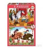 Educa - Cuidando Caballos 2 Puzzles de 48 Piezas Multicolor (17150)