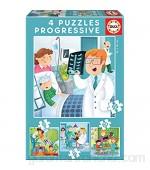 Educa - De Mayor Quiero Ser Conjunto de Puzzles Progresivos Multicolor (17146)