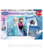 Ravensburger Puzzle Frozen - Puzzle 3 x 49 piezas para niños 5+ años (09264 2)