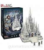 CubicFun - Puzzle 3D - Warcraft Stormwind Castle - Castillo en 3D para ser montado - 301 Piezas - DS0942H