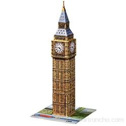 Ravensburger- Big Ben 3D Puzzle 216pc Color marrón Amarillo Gris 27.2 x 19.3 x 6.9 (646607)