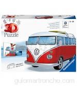 Ravensburger- Volkswagen Puzzle Color Blanco/Rojo (Ravesnburger 12516)