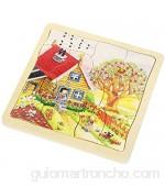 Goki- Puzzles de maderaPuzzles de maderaGOKIPuzzle Las Estaciones Multicolor (1)