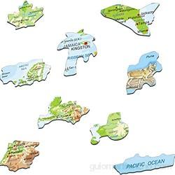 Larsen A32 América del Norte Mapa físico con Animales edición en Español Puzzle de Marco con 66 Piezas