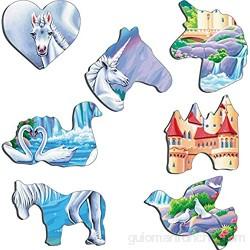 Larsen PG2 Unicornios bajo el Arco Iris Puzzle de Marco con 32 Piezas