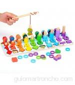 EKKONG Juguetes niños 1 2 3 4 años Juguetes Educativos Niños Juguetes de Madera Montessori Bebes Puzzle Madera Clasificación Matemática Aprendizaje de Juegos Regalo de cumpleaños Navidad