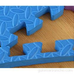 F-S-B Matetas de Ejercicios de Espuma Rompecabezas de Enclavamiento EVA para baldosas Antideslizante para Entrenamiento para el hogar esteras de Yoga 60 * 60 cm Negro 60 * 60 * 1.0cm